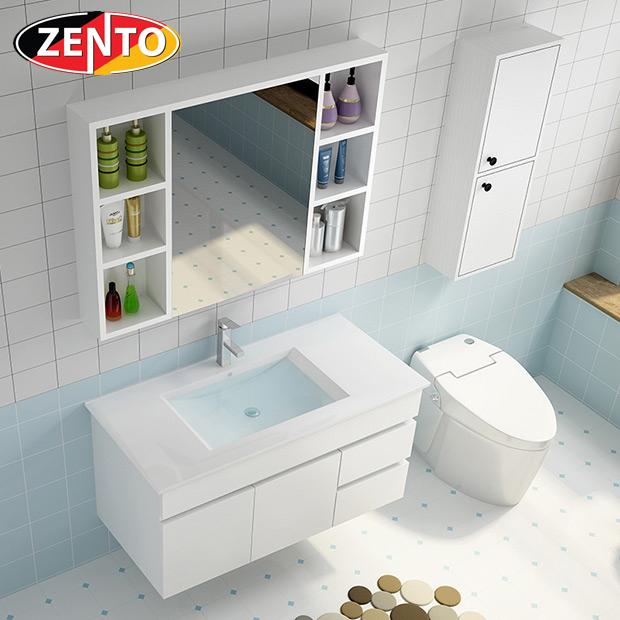 Bộ tủ, chậu, kệ gương Lavabo ZT-LV881