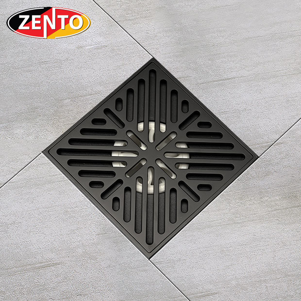 Thoát sàn chống mùi Black series  Zento ZT676-1B (150x150mm)