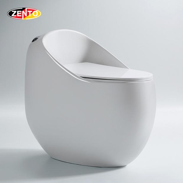Bàn cầu 1 khối Egg-Shaped Toilet BC3887 (nắp nhựa UF)