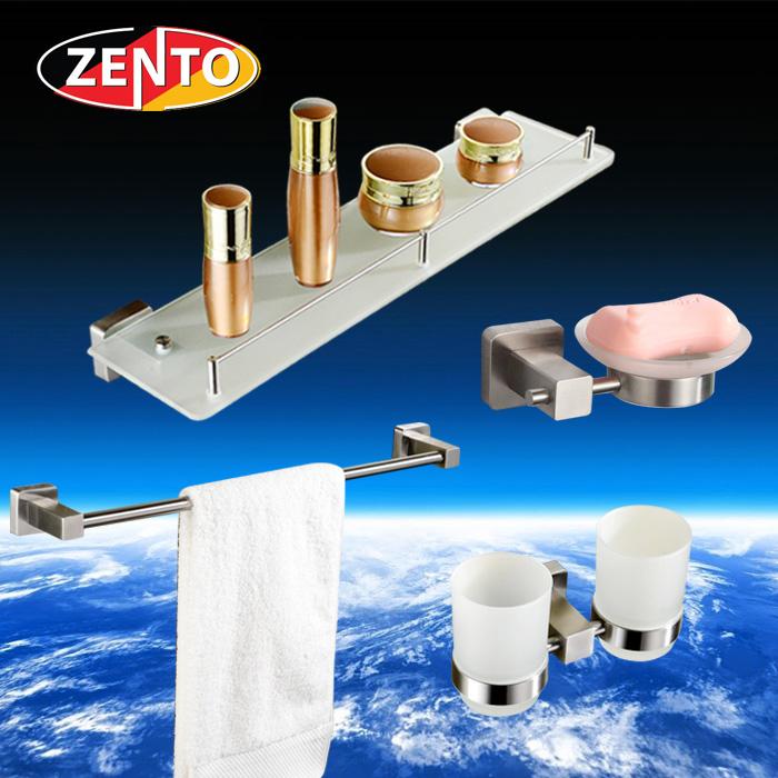 Bộ 4 phụ kiện gương phòng tắm inox 304 Zento HC167