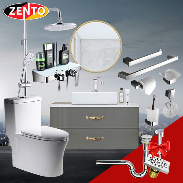 Combo 5 thiết bị vệ sinh cao cấp Zento BS19