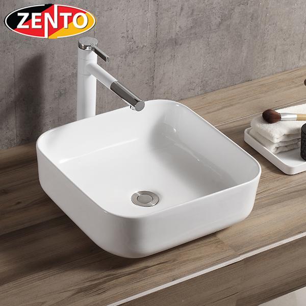 Chậu lavabo đặt bàn Zento LV6142 (390x390x130mm)