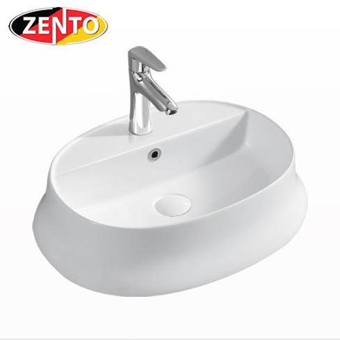 Chậu lavabo đặt bàn Zento LV1184A (575x370x160mm)