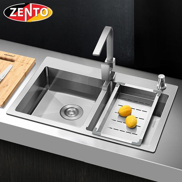 Chậu rửa bát inox 2 hố cân Zento HD7843-201HM-C