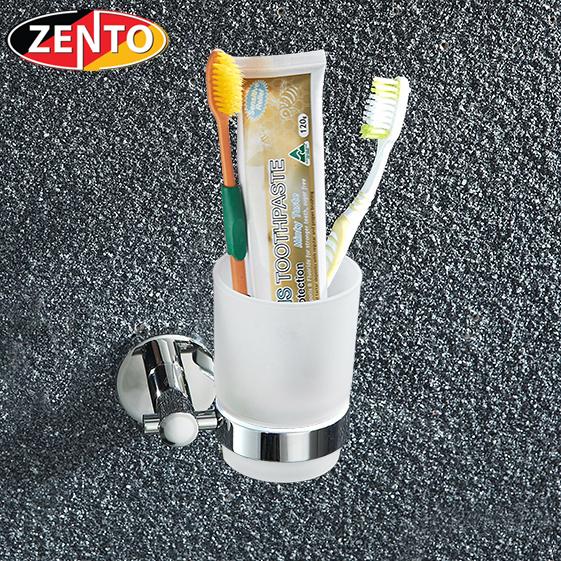 Cốc thủy tinh kèm kệ đơn inox Zento HA4603