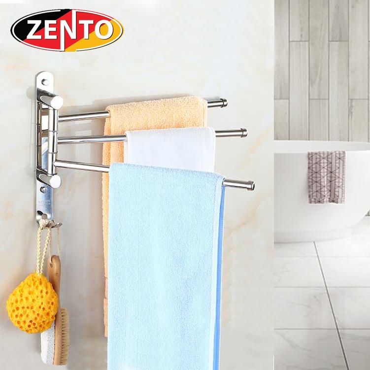 Giá treo khăn 3 thanh Rotating towel bar HA030-3