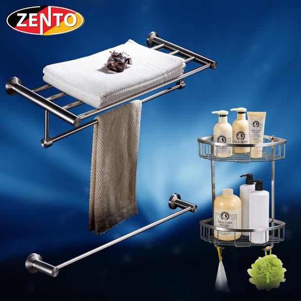 Bộ 3 phụ kiện phòng tắm inox 304 Zento HC195