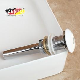 Bộ xả nhấn sứ Lavabo kín Zento ZP035-1 (Waste & plug)