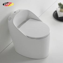 Bàn cầu 1 khối Luxury Zento BC3886 (nắp nhựa UF)