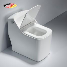Bàn cầu 1 khối Luxury Zento BC3888 (nắp nhựa UF)