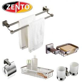 Bộ 5 phụ kiện phòng tắm inox 304 cao cấp Zento HC202