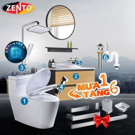 Combo 6 thiết bị vệ sinh cao cấp Zento BS10