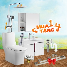 Combo 7 thiết bị vệ sinh cao cấp Zento BS15