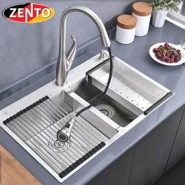 Chậu rửa bát inox 2 hố cân Zento HD7843-304HM-C