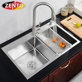 Chậu rửa bát inox 2 hố cân Zento HD8245-304HM-C