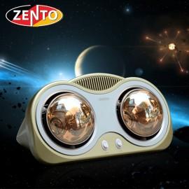 Đèn sưởi nhà tắm 2 bóng Zento ZT2-Gold