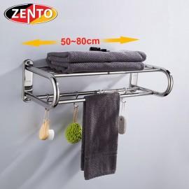Giá để đồ kết hợp treo khăn inox HA4630