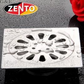 Phễu thoát sàn chống mùi hôi inox Zento TS122-L (12x12cm)