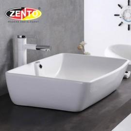 Chậu lavabo đặt bàn Zento LV1059A (610x385x140mm)