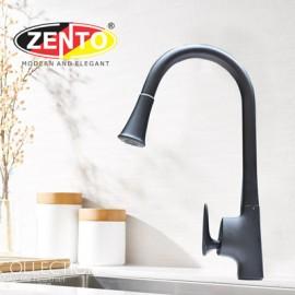 Vòi rửa bát nóng lạnh Pulldown Spray ZT5505-Black (Dây rút)
