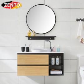 Bộ tủ, chậu, bàn đá, kệ gương Lavabo  ZT-LV892 (cánh Laminate vân gỗ)