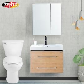 Bộ tủ, chậu, tủ gương Lavabo ZT-LV968 (cánh Laminate vân gỗ)