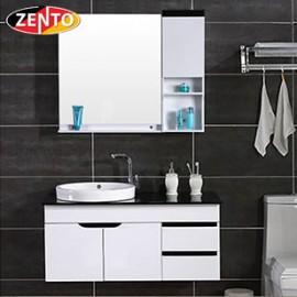 Bộ tủ, chậu bàn đá, kệ gương Lavabo ZT-LV990