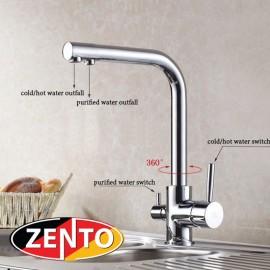 Vòi rửa bát 3 đường nước Zento ZT2091
