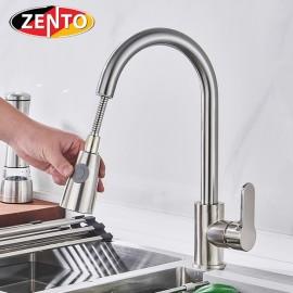 Vòi rửa bát nóng lạnh Pulldown Spray ZT5507-brushed (Dây rút)
