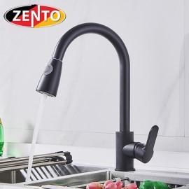 Vòi rửa bát nóng lạnh Pulldown Spray ZT5507-Black (Dây rút)
