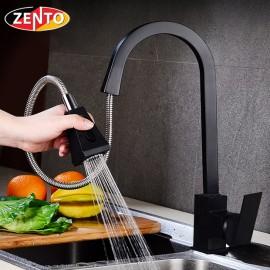 Vòi rửa bát nóng lạnh Pulldown Spray ZT5509-Black (Dây rút)