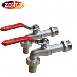 Vòi vườn đồng tay inox Zento ZT706 (vòi xả lạnh)