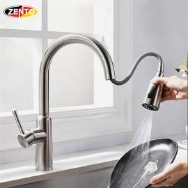 Vòi rửa chén bát nóng lạnh Pull-Down Spray ZT5526 (Dây rút)
