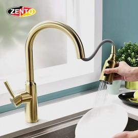 Vòi rửa chén bát nóng lạnh Pull-Down Spray ZT5526-Gold (Dây rút)