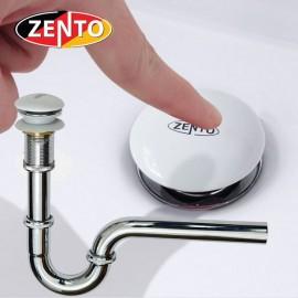 Bộ xi phông lavabo xả nhấn sứ  Zento ZXP011