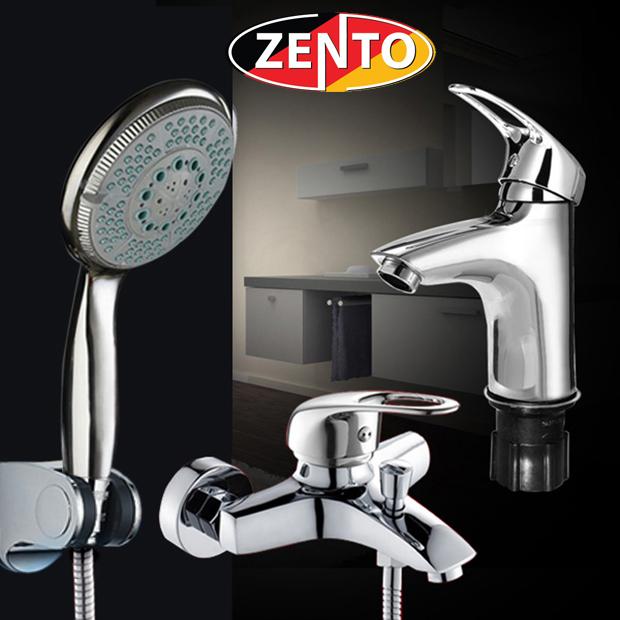 Cặp đôi sen tắm và vòi lavabo Zento CB003