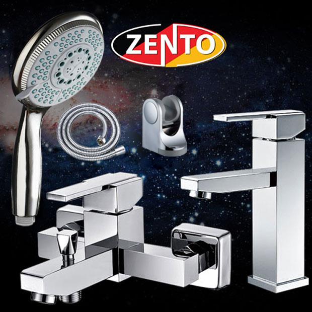 Cặp đôi sen tắm và vòi lavabo Zento CB002