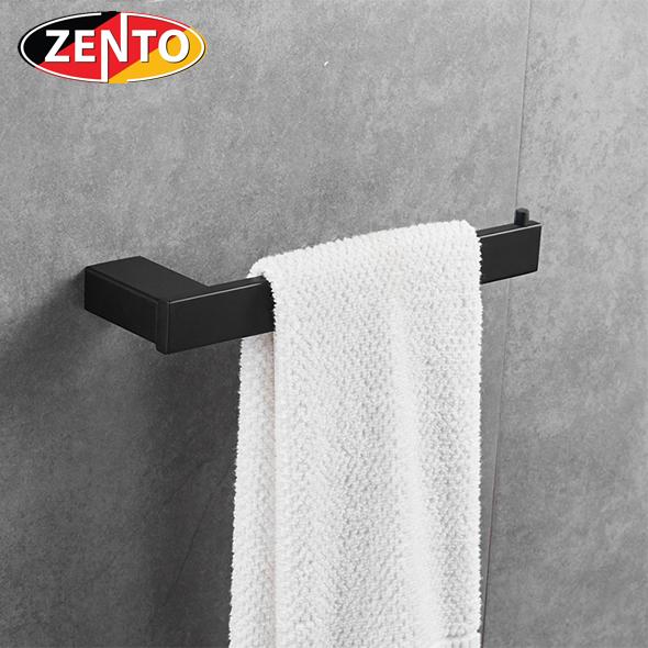 Thanh treo khăn đơn inox304 Black series Zento HC6806-1