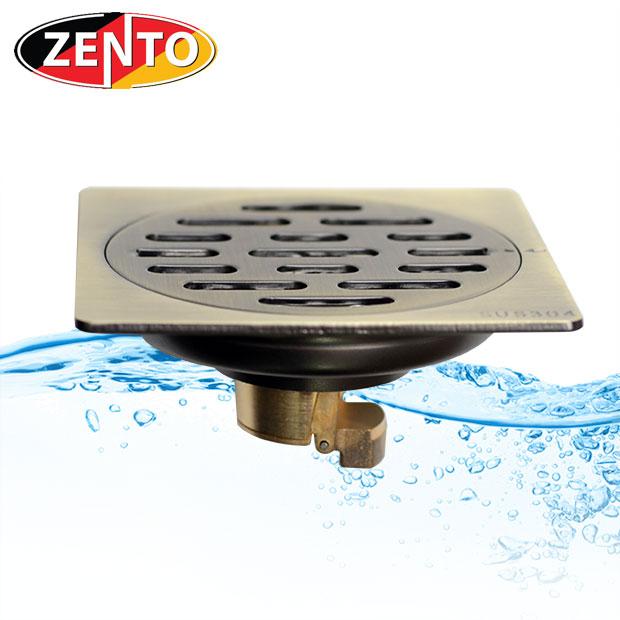 Thoát sàn chống mùi và côn trùng inox Zento ZT542-1L (100x100mm)