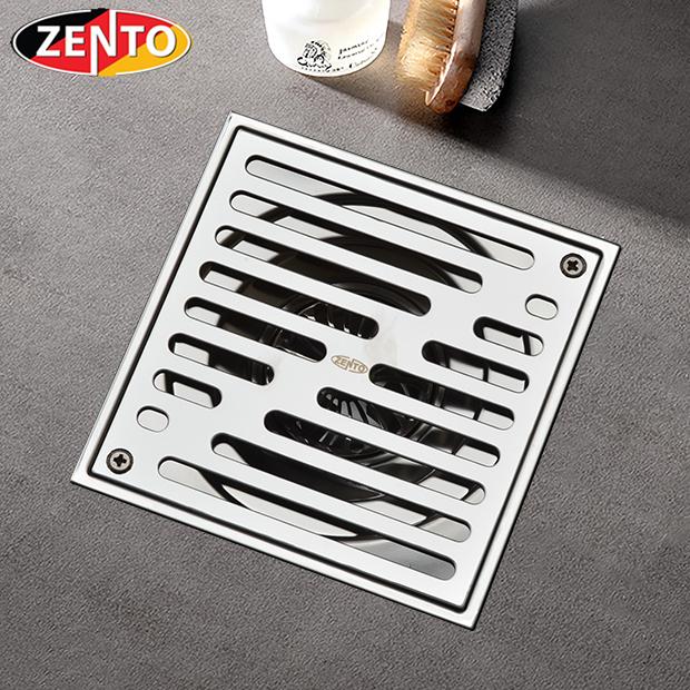 Thoát sàn chống mùi ban công inox304 Zento ZT561-2U (150x150)
