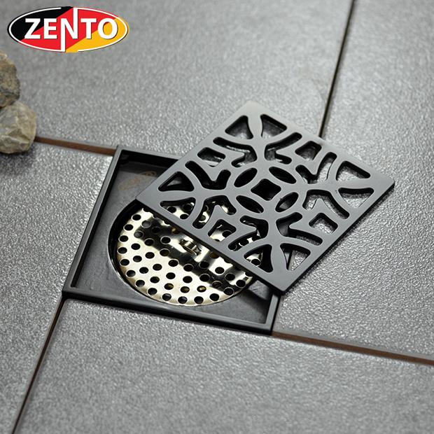 Thoát sàn chống mùi Black series Zento ZT527 (100x100mm)