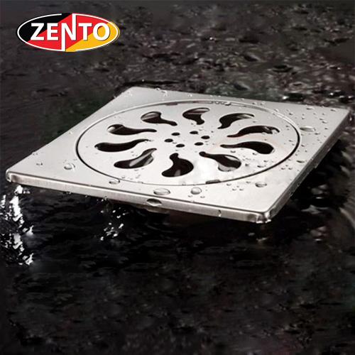 Phễu thoát sàn inox Zento TS121 (115x115mm)