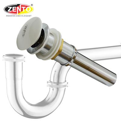 Bộ xi phông lavabo kín xả nhấn sứ ZXP011-2