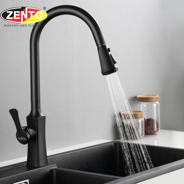 Vòi rửa bát nóng lạnh Pulldown Spray ZT5503-Black (Dây rút)