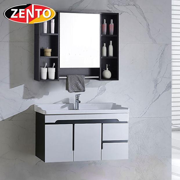 Bộ tủ, chậu, kệ gương Lavabo Black & White ZT-LV882F