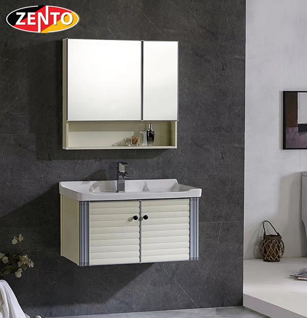 Bộ tủ, chậu, kệ gương Lavabo ZT-LV1087 (Aluminum)