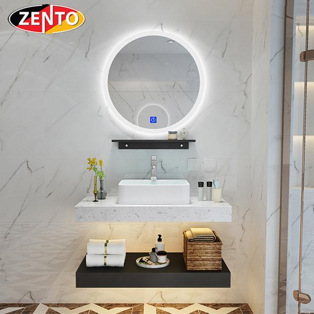 Bộ chậu lavabo, bàn đá, kệ gương đèn led ZT-LV8972