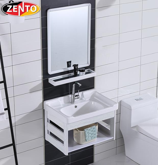 Bộ tủ, chậu, kệ gương Lavabo ZT-LV949 (Aluminum)