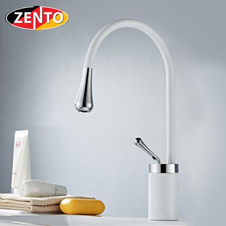Vòi chậu Lavabo nóng lạnh Art White ZT2185-W