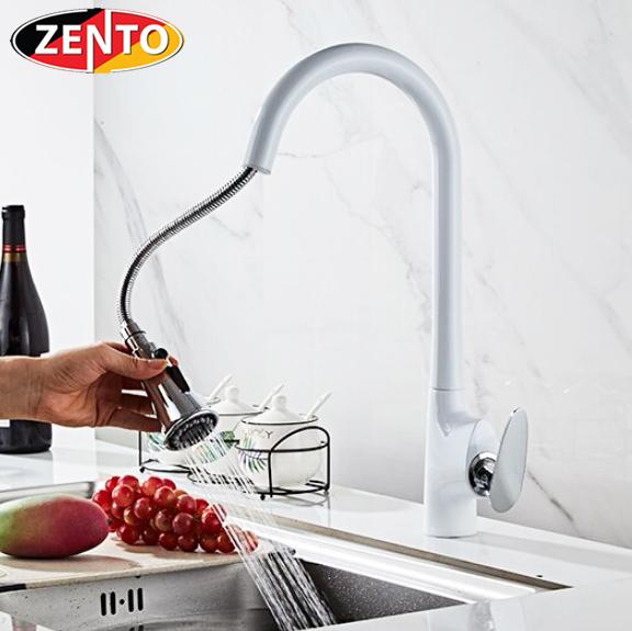 Vòi rửa bát nóng lạnh Pulldown Spray ZT5505-W&C (Dây rút)